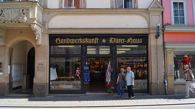 Die Blaudruckwerkstatt befindet sich im Dürerhaus Erfurt.