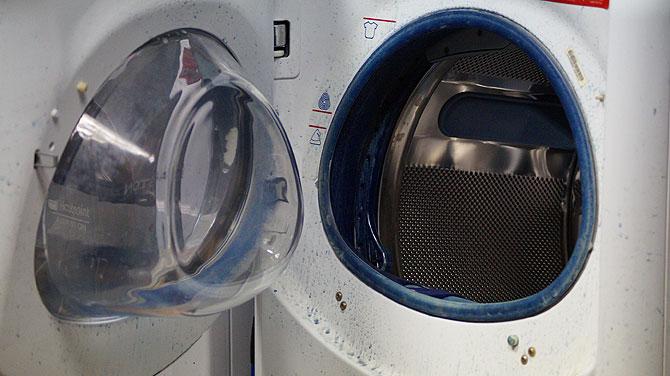 So sehr färbt meine Wäsche selten ab.