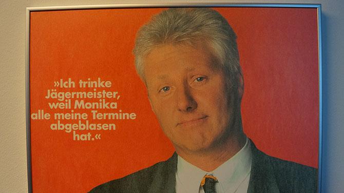 Werbekampagne mit Bill Clinton