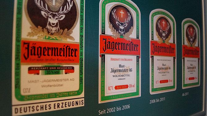 Siehst du während der Jägermeister Führung: Etiketten