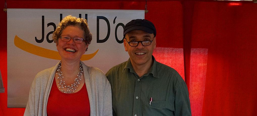 Dorothea und Jalalledin von Jalall D'or auf dem Münster Wochenmarkt