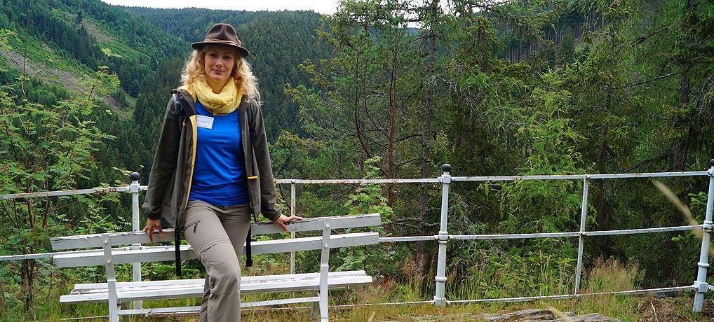 Franziska ist Naturführerin im Thüringer Wald und Thüringer Schiefergebirge.