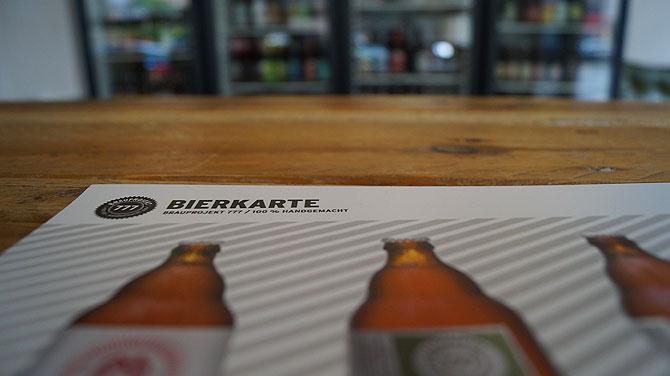 Auf der Bierkarte wird jeder fündig