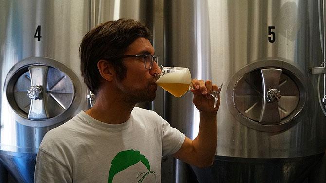 Bei der Schloßbräu-Bierprobe