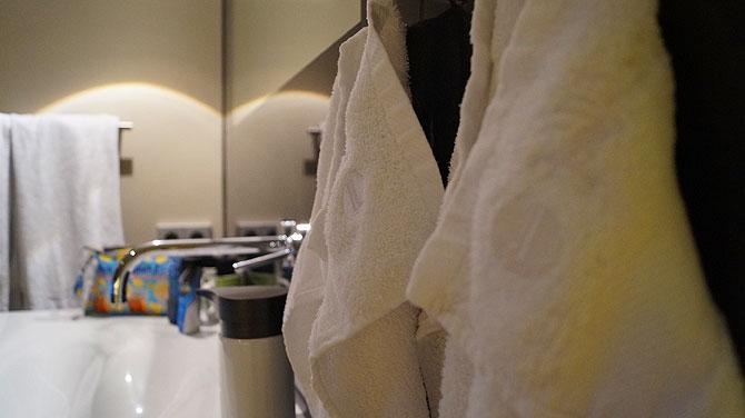Handtücher hängen so wie daheim