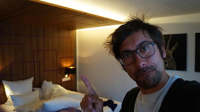 Ich im Fourside Hotel Braunschweig, Junior Suite