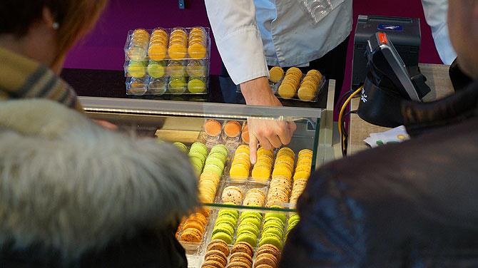 Viel Auswahl, viele verschiedene Macarons