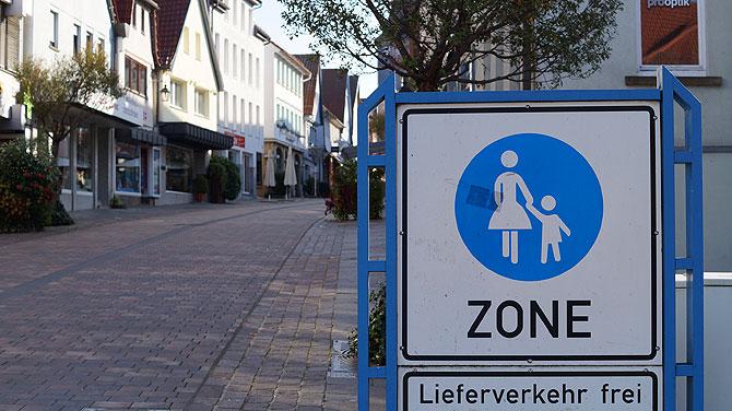 Fußgängerzone in Winnenden
