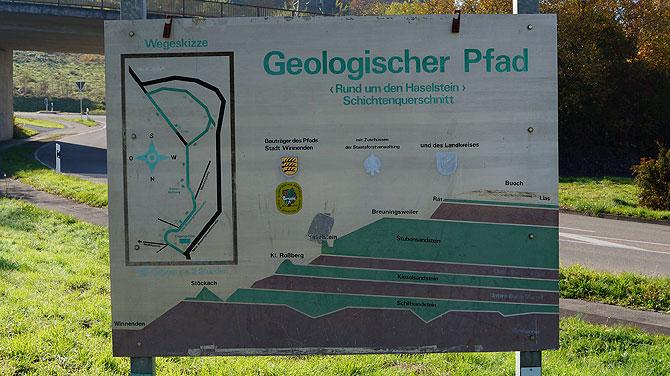 Anfang Geologischer Pfad Winnenden