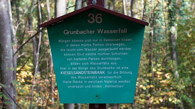 Station 36 Wasserfall bei Grunbach