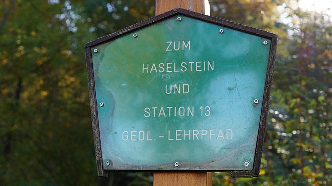 Haselstein Geologischer Pfad Station 13