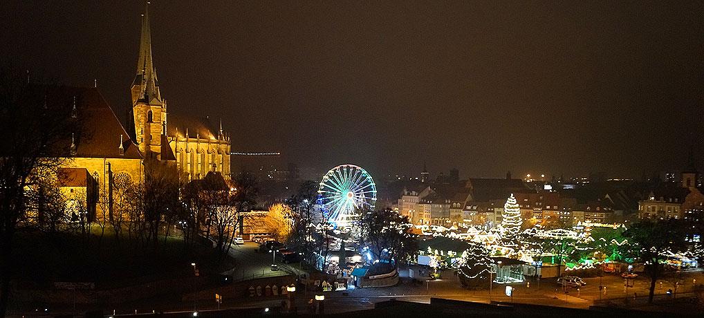 Der Weihnachtsmarkt Erfurt gilt als einer der schönsten Weihnachtsmärkte in Deutschland