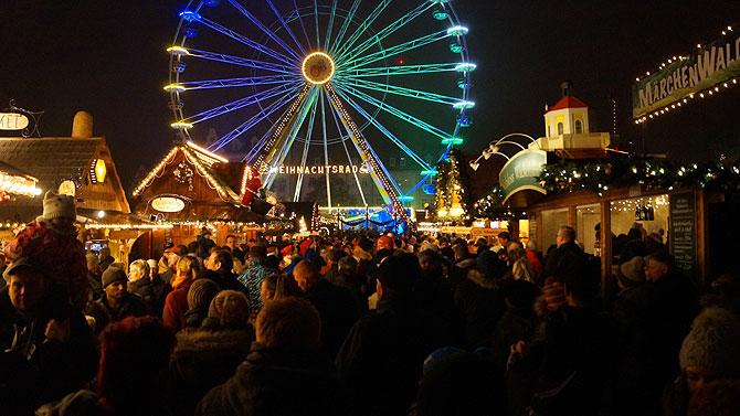 Weihnachtsrad auf dem Erfurter Weihnachtsmarkt