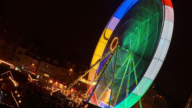 Riesenrad auf dem Weihnachtsmarkt Erfurt