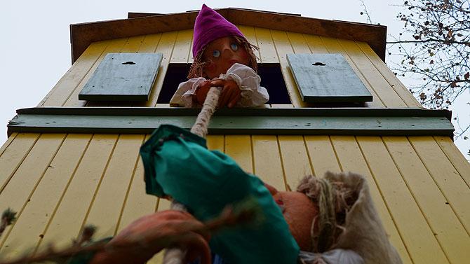 Rapunzel im Erfurter Märchenwald