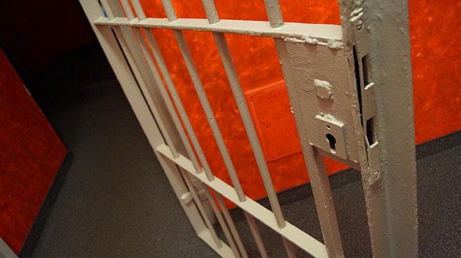 Gittertür im Hotel Alcatraz