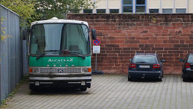 Der Alcatraz Gefängnisbus ist fahrtüchtig
