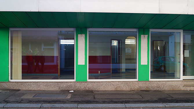 Grüner Laden steht leer