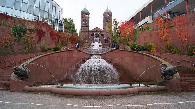 Brunnen mit Stierkopf