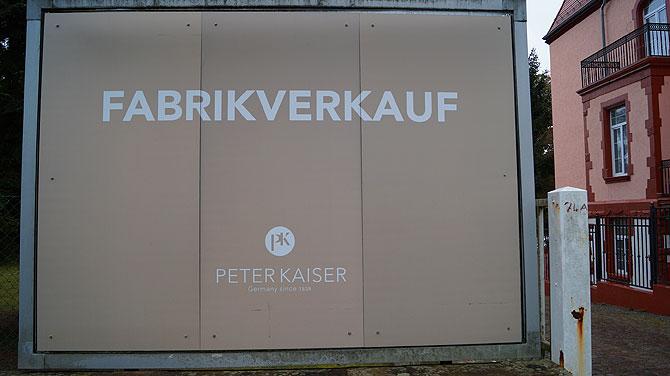 Peter Kaiser Werkverkauf