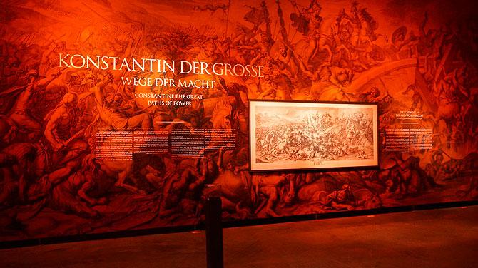 Infotafeln über Konstantin der Große