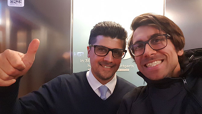 Ich und Aufzugführer Ayhan
