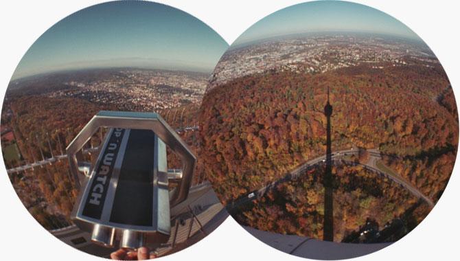 Tolle Aussicht vom Fernsehturm Stuttgart