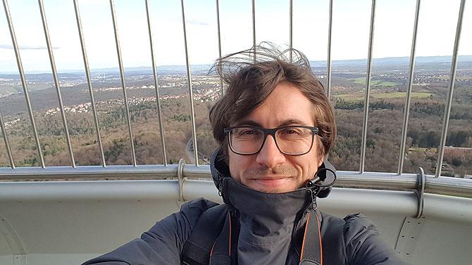 Ich auf dem Stuttgarter Fernsehturm