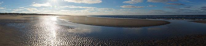 Wattenmeer auf Juist im Panorama