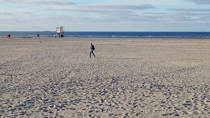 Langer Strandspaziergang an der Nordsee