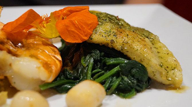 Essen im Restaurant im Hotel Pabst