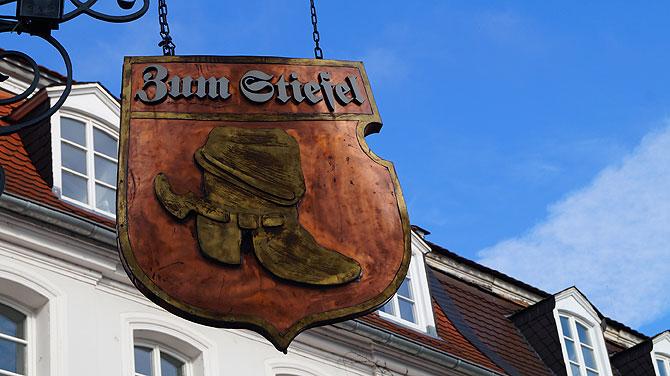 Das Gasthaus Zum Stiefel ist eine von vielen kulinarischen Sehenswürdigkeiten in Saarbrücken