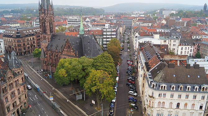 Ausblick vom Rathausturm in Saarbrücken