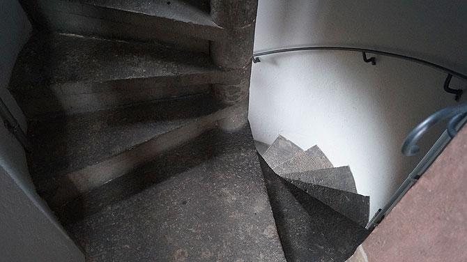Treppenstufen auf den Rathausturm