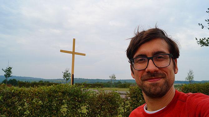 Ich auf dem Papsthügel am Marienfeld bei Kerpen