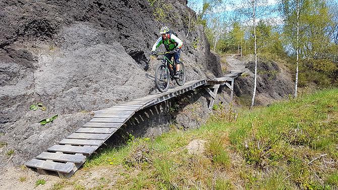 Action im Koulshore Trail Gelände in der Eifel