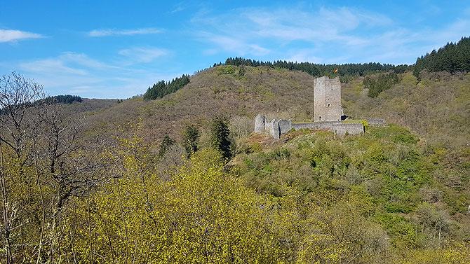 Tolle Kulisse und toller Blick auf die Oberburg