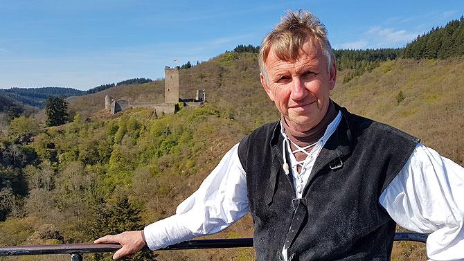 Joachim wacht auf der Niederburg Manderscheid