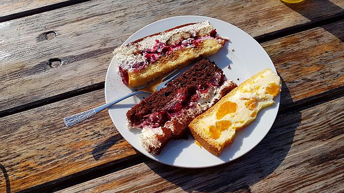 Highlight auf der Burg ist der selbstgemachte Kuchen