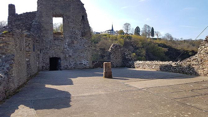 Das ist der größte Raum der Burg