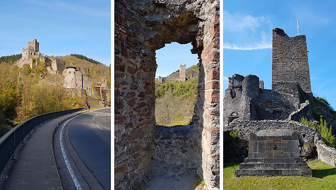 Der Bergfried ist das Wahrzeichen der Niederburg Manderscheid