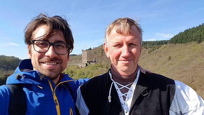 Ich mit Burgherr Joachim