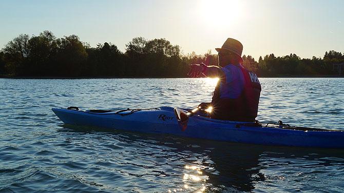 Richtig schöner Moment so eine Kanutour auf dem Forggensee
