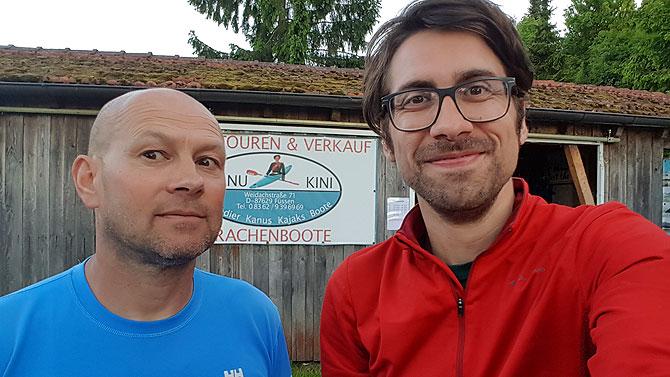 Ich mit Uwe von Kanu Kini in Füssen