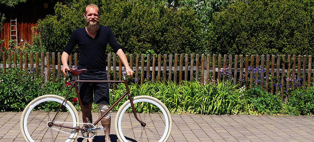 Wenn Florian Hipp ein Fixie Bike macht, dann wird aus jedem Gangster ein Starrgänger.