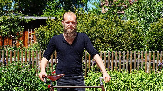 Florian Hipp aus Füssen macht Fixie Bikes unter der Marke Starrgang.