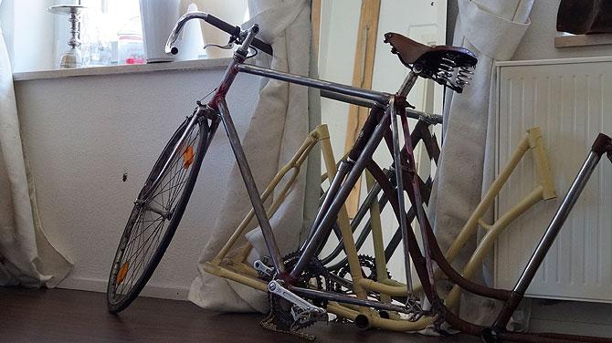So sieht ein Fixie Bike im Rohzustand aus.
