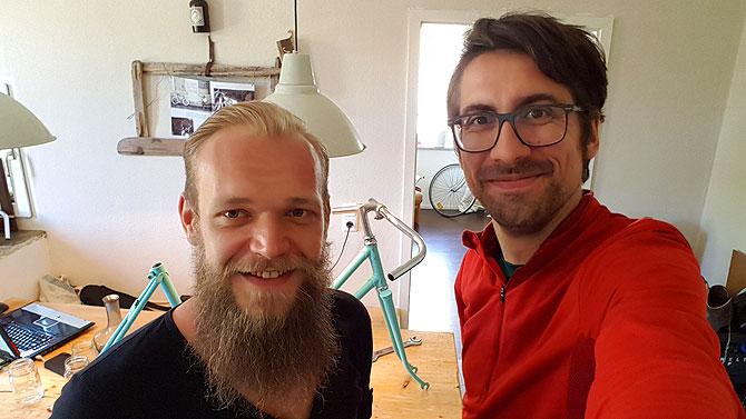 Ich mit Florian Hipp in seiner Küche
