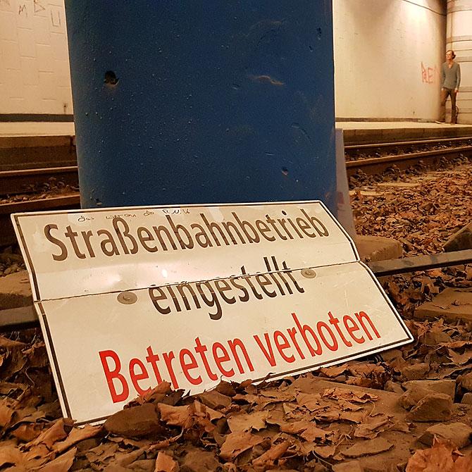 Straßenbahnbetrieb vorübergehend eingestellt