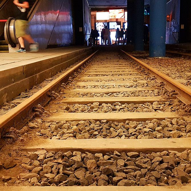Gleise im Kasseler Kulturbahnhof